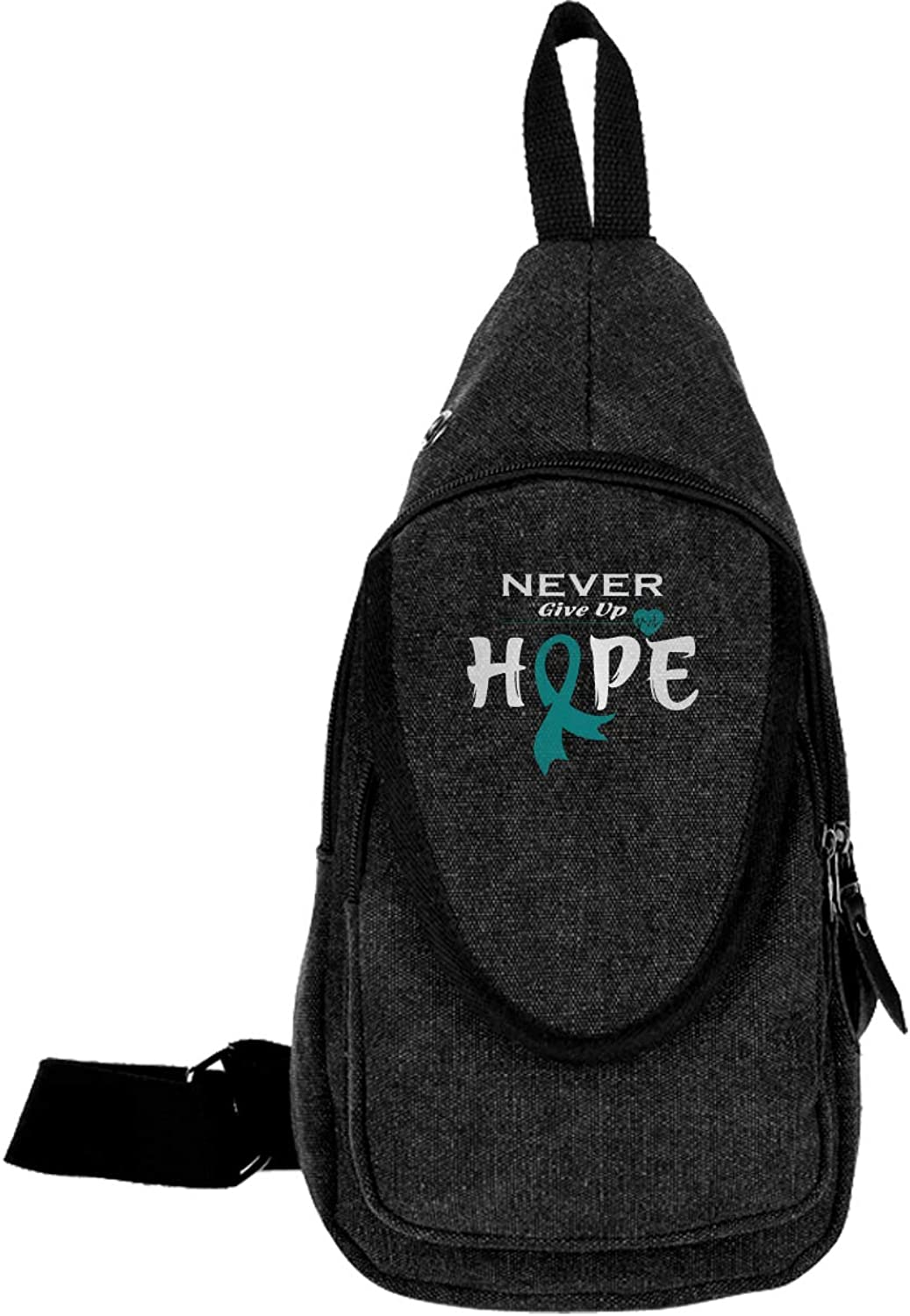 e7010f5956ac Mens and Canvas Small Backpack Ovarian Cancer Awareness Chest ...