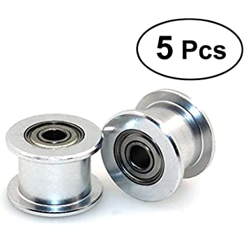UKCOCO 5PCS sin dientes correa dentada polea tensora GT2 5 mm de ...