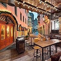 カスタムウォール壁画3Dヨーロッパのストリート風景画写真の背景壁の装飾リビングルームレストランの壁紙-300x210cm