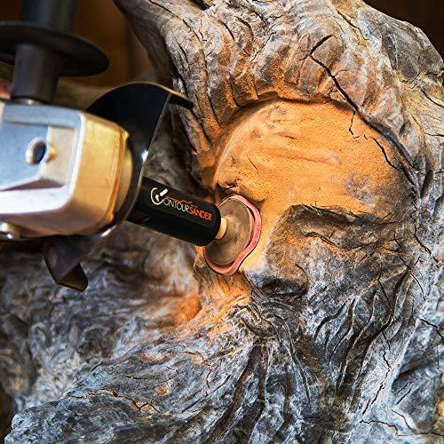 ARBORTECH Contour Sander | Ø 50 mm  Exzenterschleifer Aufsatz für Winkelschleifer zur Holzbearbeitung - 4