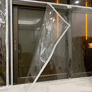 Tarpaulin Thick Transparent PVC Balcony Winter Season Cold Wind Window Insulation Film Polyethylene, Can Be Customized GGY...
