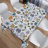 sans_marque Paño de mesa, algodón y lino lavable, tela de mesa de costura de borla, cubierta de mesa de comedor, adecuado para decoración de mesa de cocina y mesa de comedor140 cm x 240 cm