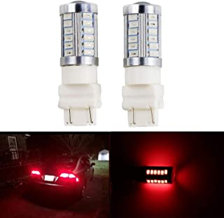 Dantoo 2pcs 3157 LED 3056 3156 3057 Bulb Extremely Bright Brake Light Bulbs 33 SMD Brilliant Red Tail Lights Stop Lamp with Projector Lens with Projector Lens Replacement