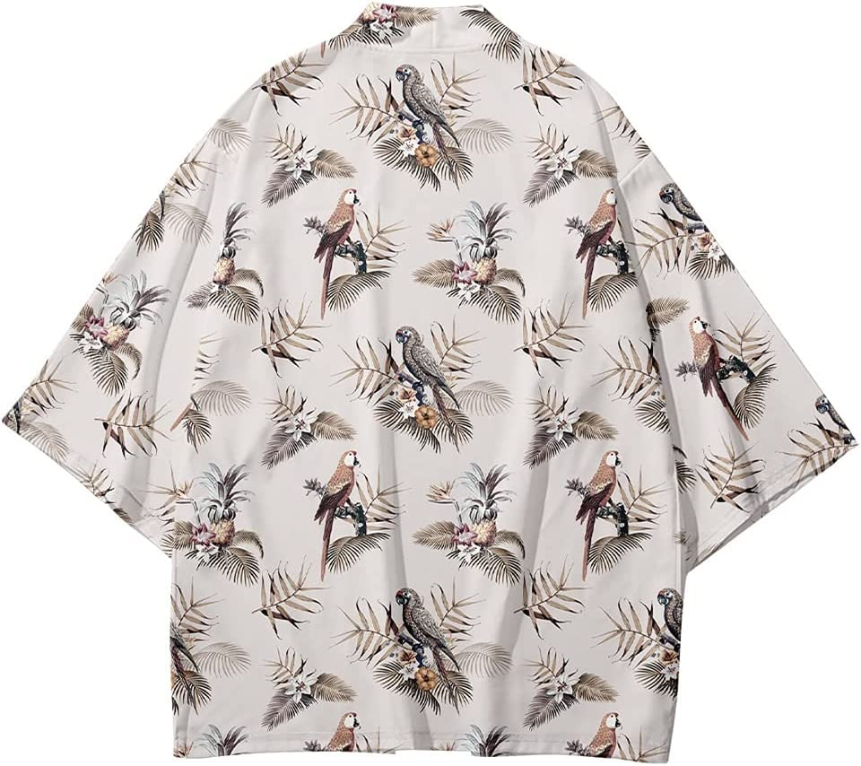 GZSZYA Cartoons Printing Japanese Style Fashion Men and Women Cardigan Blouse Asian Clothes Cardigan (Color : V08273, Size : XX-Large)