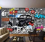 Qhrdp Mural Cool Graffiti Boom 3D Wallpaper Para Paredes Mural Sala De Estar...