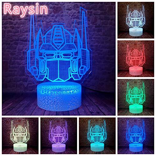 Kreative Autobots Knight Trans Figur Optimus Prime Transformatoren und 3D LED Nachtlicht USB Tischlampe Kinder Geburtstagsgeschenk Nachtdekoration am Bett