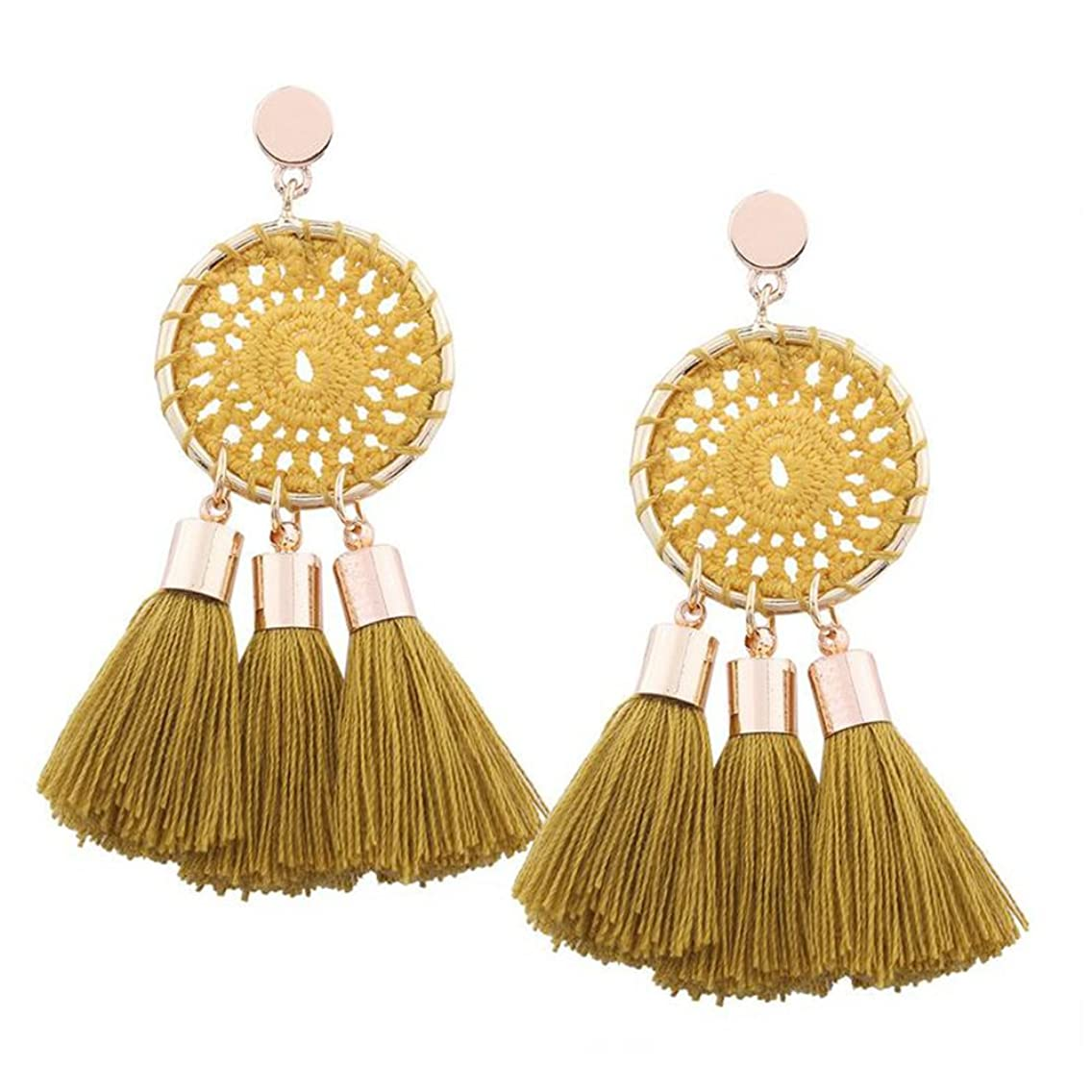 Ethnic Handmade Tassel Earrings Bohemian Earrings For Women Vintage Jewelry Pendant Earrings