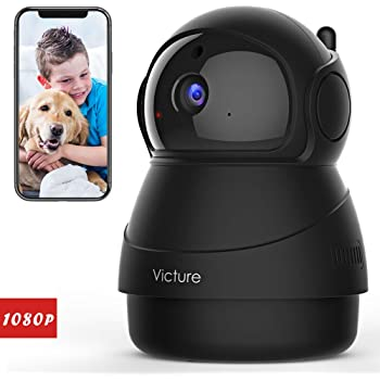 Victure 1080P FHD Pet Camera with WiFi IP Camera Indoor Security Camera Motion Detection Night Vision Home Surveillance Baby Elder Monitor with 2 Way Audio iOS/Android