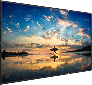 TaoTronics 120 Inch 16:9 Projector Screen - High Contrast 4K HD PVC Projection Movie Screen for Party and Home Theater (1.2 Gain, Wide 160° Viewing Angle, Waterproof and Easy to Clean)