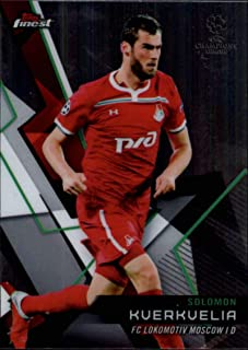 2018-19 Finest UEFA Champions League #56 Solomon Kverkvelia FC Lokomotiv Moscow Soccer Trading Card