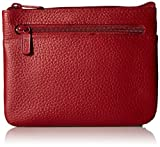 Buxton Large ID Coin/Card Case Wallet, Dark Red, One Size
