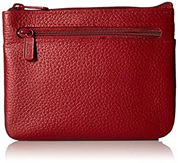 Buxton Large ID Coin/Card Case Wallet Dark Red One Size