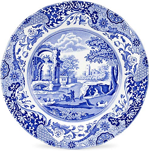Spode Blue Italian Dinner Plates - Set of 4