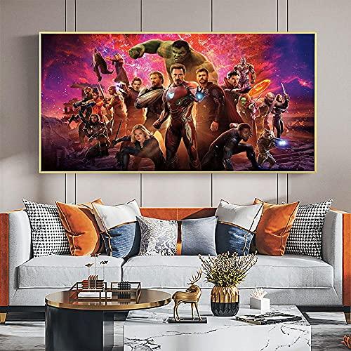 Película superhéroe lienzo pintura cómics carteles e impresiones imágenes artísticas de pared para sala de estar decoración del hogar regalo de niño   70x140cm sin marco