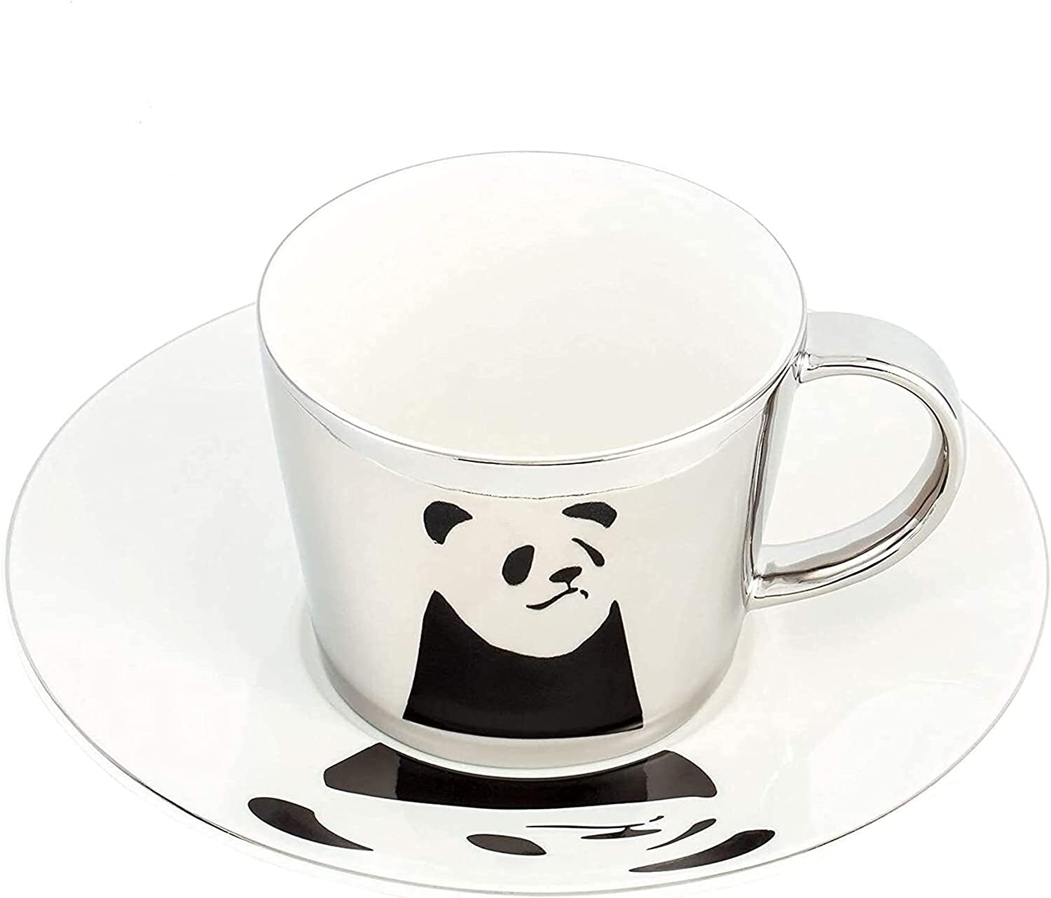 Creative Handmade Mirror Plated Bargain Cup Saucer Set Ce and Decorative Large discharge sale