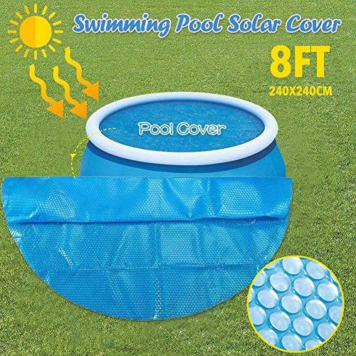 youngfate Solar Cover Pool Solarabdeckplane Pool Rund Rechteckig Poolabdeckplane Schwimmbadabdeckung PE Bubble Film Staubdichte Feuchtigkeit Und UV-Schutz