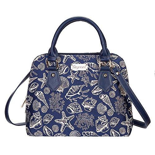 Signare Tapisserie Handtaschen Damen, Umhängetasche damen schultertasche damen und Umhängetaschen damen mit Farbmuster Designs (Muschel)