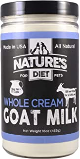 Nature's Diet Pet Dried Whole Cream Goat Milk for use as High Protein, Hypoallergenic Digestion, Nutrition and Anti-inflam...