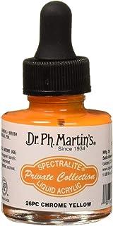 زجاجة طلاء Arcylic من مجموعة .Ph.Martin's SPEC10OZS26PC Spectralite الخاصة من الأكريليك السائل (26PC)، 1. 0 أونصة، كروم أصفر