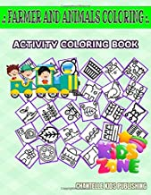 Farmer And Animals Coloring: 55 Activity Resources, Tomato, Bell, Salad, Wheat, Hydroponic, Leaf, Jars For Kids Image Quiz Words Activity Coloring Book