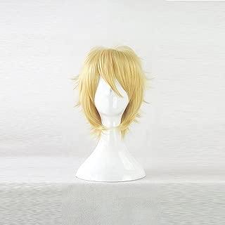 Kaichou wa Maid-Sama! Usui Takumi Golden Short Cosplay Anime Costume Wig + Free Wig Cap