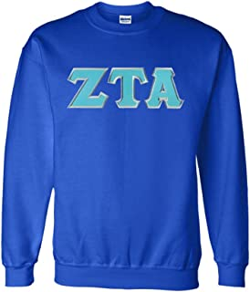 Zeta Tau Alpha Lettered Crewneck