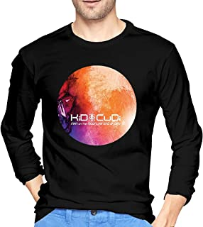 Fishoceany Man Funny Crew-Neck Long Sleeve Tees Special Design with Kid Cudi Man On The Moon Ii2