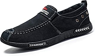 Men's Loafers Driving Shoes Casual Canvas Shoes Slip-on Moccasin Breathable Comfortable Shoes
