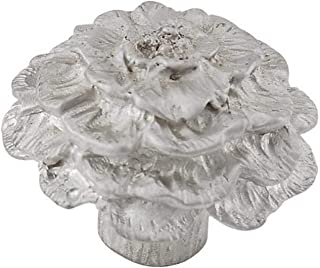 Vicenza Designs K1217 Carlotta Carnation Knob, Large, Satin Nickel