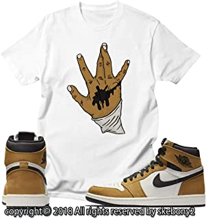 85e8c43af71dfe Custom T Shirt Matching Style of AIR Jordan 1 Rookie of The Year JD 1-