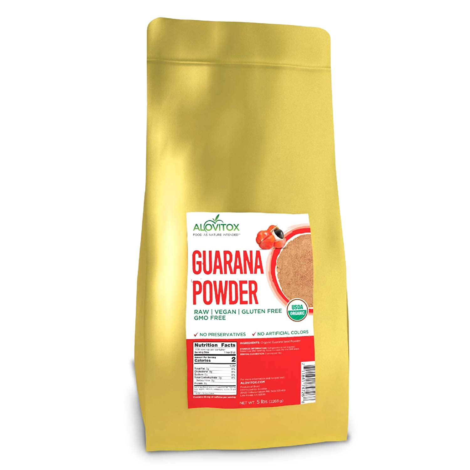 Organic Guarana Weekly SEAL limited product update Seed Powder by Boostin Alovitox Natural Energy