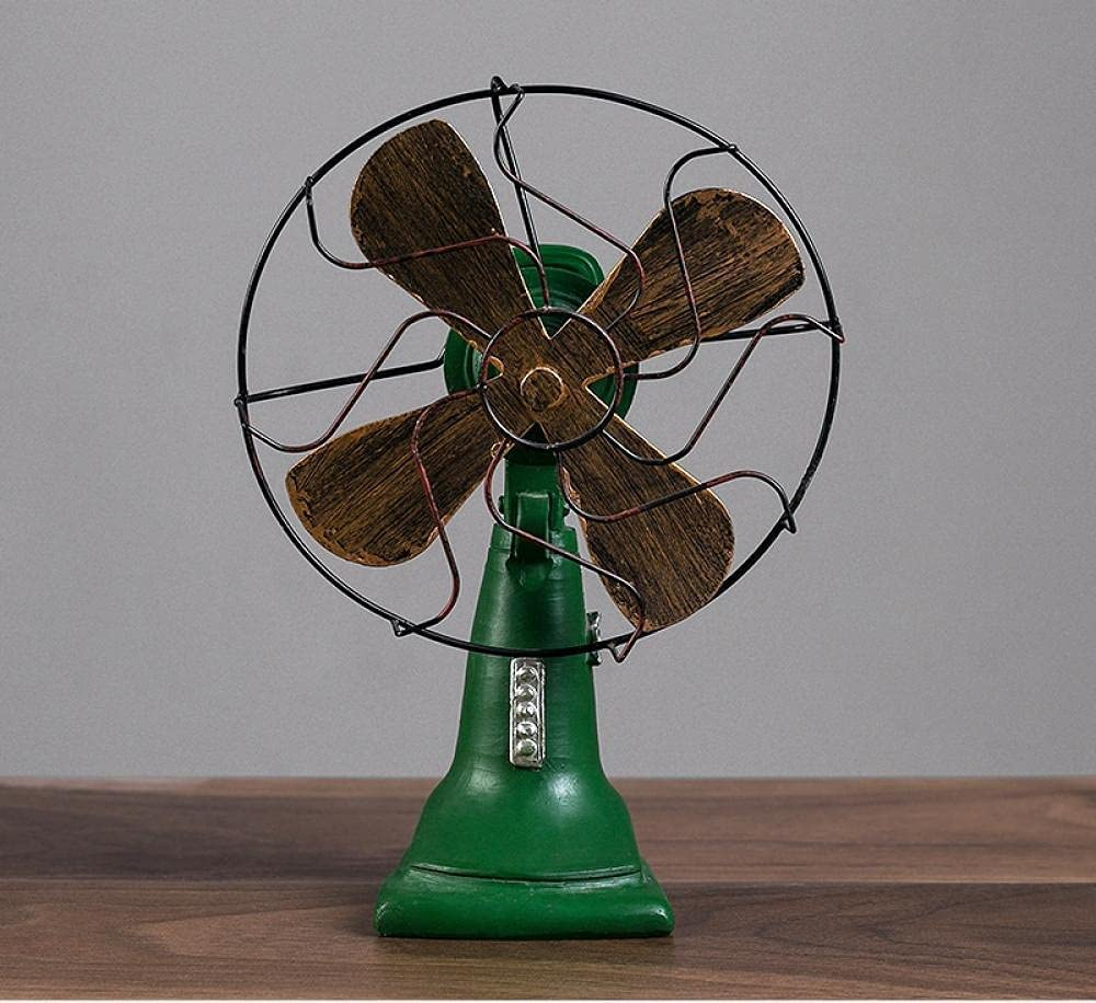 Figurine Statue depot Retro Electric Ornaments Fan 70% OFF Outlet Resin