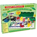 Snap Circuits Green Alternative Energy Electronics Exploration Kit | Over 125 STEM Projects | Full Color Project Manual | 40+ Snap Circuits Parts | STEM Educational Toys for Kids 8+