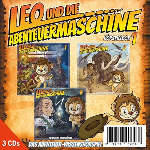 Leo und die Abenteuermaschine Hörspielbox 1 | 3 CDs Bundle | Wissenshörspiel | für schlaue Kids | tauchen | fliegen | Cowboys | Dinosaurier