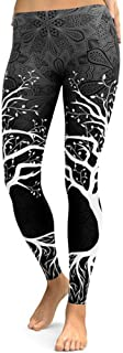 Shimmery Women's Yoga Workout Legging Lightweight Digital Tree Printed Fitness Workout Pants