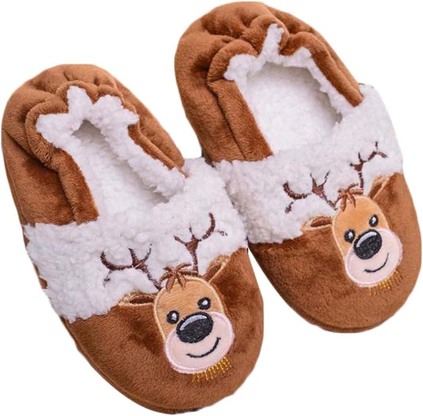 DAIMIDY Boys & Girls Warm Slippers Cute Cartoon Household Shoes