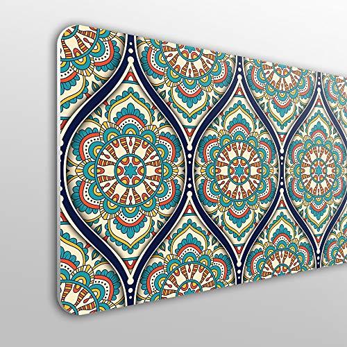 Megadecor Kopfteil für Bett, PVC, 10 mm, dekorativ, preiswert, symmetrisches, orientalisches Mandala-Design