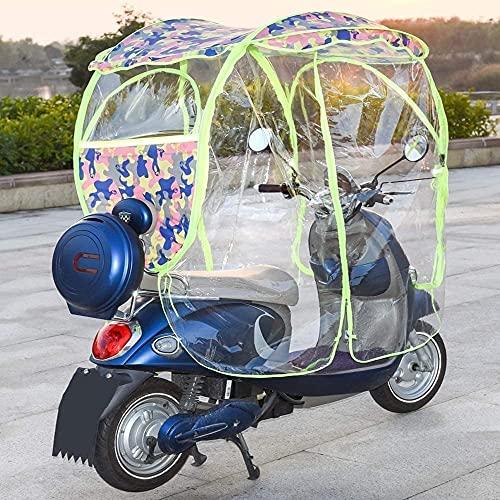NIHE Cubierta de Lluvia Paraguas de Scooter de Motor Completamente Cerrado Parasol de Movilidad Movilidad Plegable para Scooter Toldo para Scooter