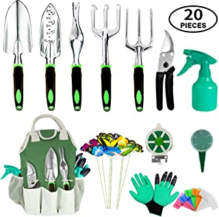 AOKIWO 11 Suit, Heavy Duty Aluminum Manual kit with Garden Gloves and STO, Green Multi