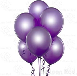 Metallic Purple 10 Inch Pearlescent Thickened Latex Balloons, Pack of 100, Pearlized Premium Helium Quality for Wedding Bridal Baby Shower Birthday Party Decorations Supplies Ballon Baloon Thinken