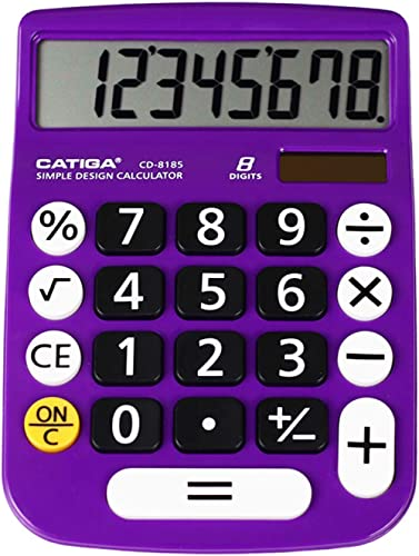 Basic Calculator: Catiga CD-8185 Office and Home Style Calculator – 8-Digit – Educational - Suitable for School and D...