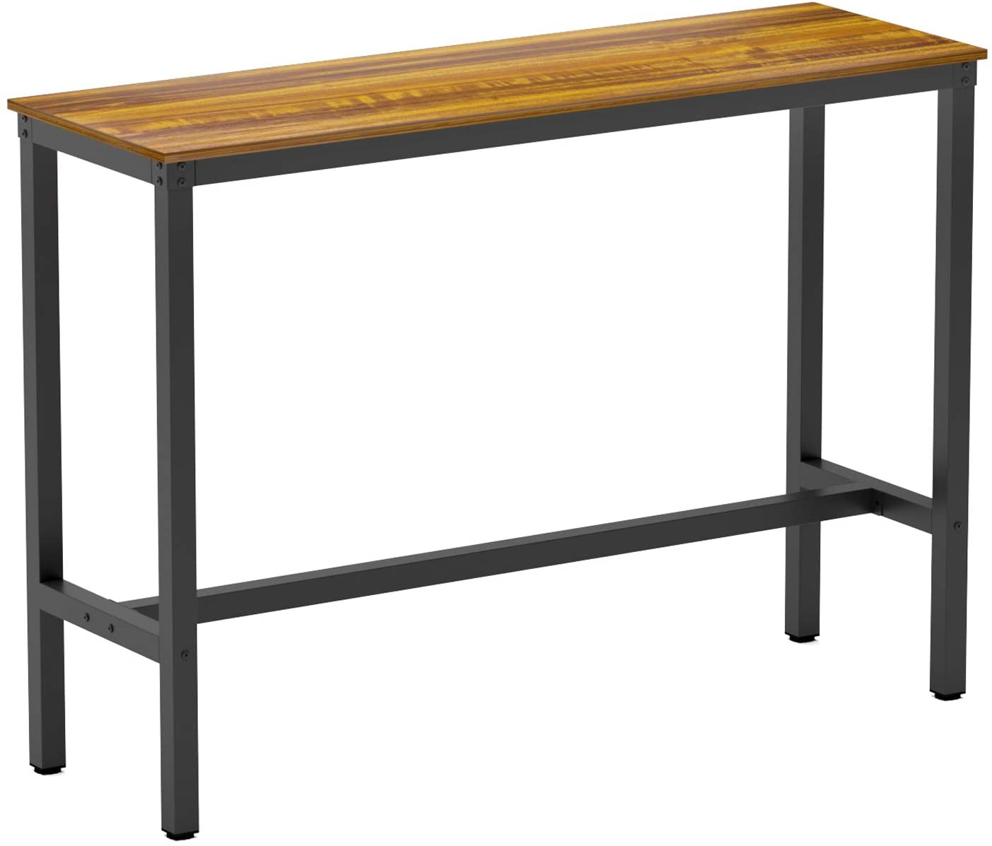 Teraves Bar Table with Solid Metal Frame,Counter Height Dining Table  Kitchen Bar Table for Dining Room,Living Room 9.9
