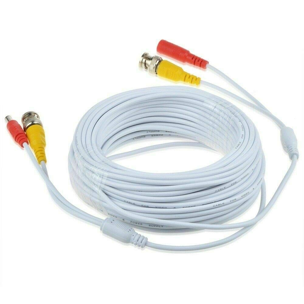 BigNewPowered 65ft White BNC Video Power Popular standard Wire C Samsung Los Angeles Mall for Cord