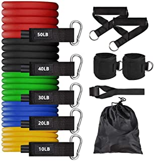Gikbay Resistance Bands Set, 150Lbs Exercise Bands with Handles for Resistance Training Gym Home Workouts Physical Therapy...