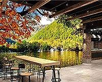 カスタム3D公園秋の川の滝森自然写真の壁紙リビングルームのソファテレビの背景寝室の壁紙家の装飾-350x250cm