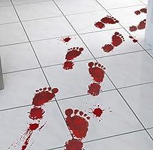 Smydp Wallpaper Bloody Footprints Floor Cling to Halloween Vampire Zombie Party Decoration Sticker Wall Sticker