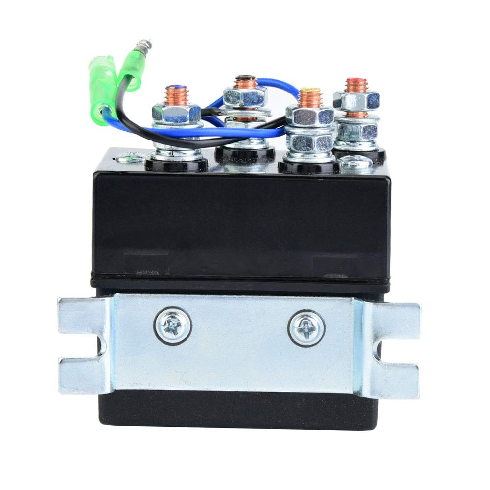 Windlasses 12V 150A Reversing Solenoid Switch Relay Contactor for Winch Motors,Snow Plows Hydraulic Pump Motors EVGATSAUTO Replacement 6 Terminal Relay Spreader Motors