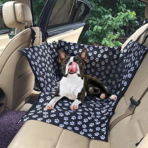 NIBESSER Hunde Autositz, Rückbank & Vordersitz Hundesitz, Wasserdicht Autositzbezug mit Verstärkte Wände, Extrem Langlebig & Einfach zu Installieren