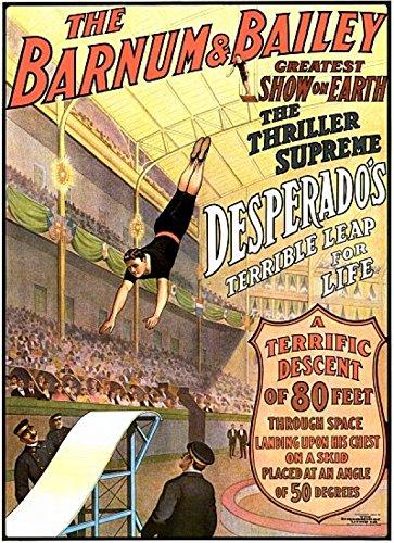The Poster Corp Desperado's Terrible Leap Circus Kunstdruck (45,72 x 60,96 cm)
