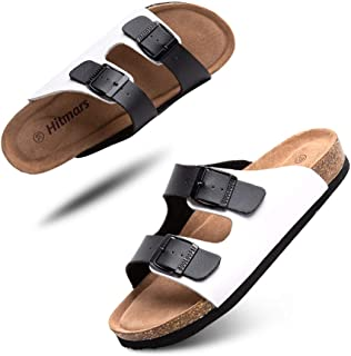 Mules Femme Homme Sandale Bout Ouvert Confort Tongs Été Plates Sandales et Nu-Pieds Boucle Sabots Chaussure de Plage Noir ...